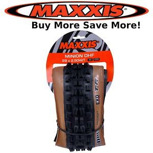 Maxxis Minion DHF 29 x 2.5quot; Dual TR Bike Folding Tubeless Ready Tanwall Tire $55.50