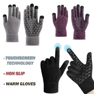 Men Women Winter Snow Gloves Touchscreen Windproof Warm Thick Knit Thermal Gift $9.38