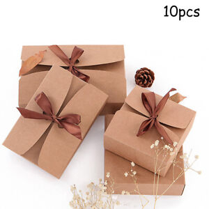 Cake Gift Kraft Box 10pcs Wedding Party Rustic Boxes With rope Durable C $22.76