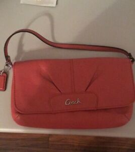 Pretty Coach Leather Small Bag Large Wristlet