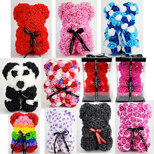 Rose Bear Valentines Day Birthday Gifts Artificial Flower Teddy San Valentin 9quot; $17.99