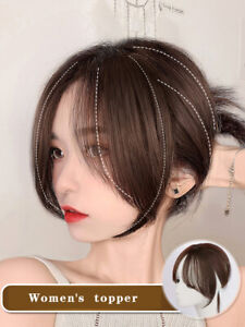 Air eight character bangs wig piece 3d seamless natural real topper hair $34.19