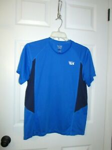 Mountain Hardwear Dry Fit Shirt Mens Size Medium BLUE ack Short Sleeve Tee Adul $11.99
