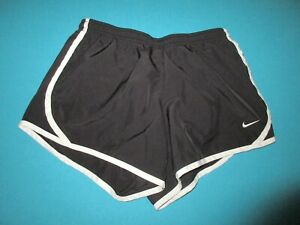 NIKE Girls Black White Athletic Shorts Size Large L $12.99