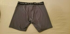 Mens Under Armour Shorts XL Grey Gray Athletic Gym Workout $14.96