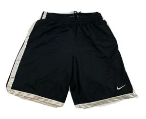 Nike Shorts Adult Large L Black Logo Swoosh Basketball Athletic Men $14.99