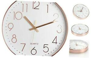12 Inch Silent Modern Wall Clock Battery Operated Decorative Wall Clocks for $25.55