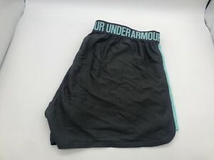Under Armour Shorts Womens Heat Gear Loose Fit With Pockets Size LG Teal G $21.00