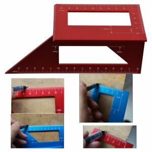 Aluminum Woodworking Tool Scriber T Ruler Multifunction 45 90 Degree Angle Ruler $9.99