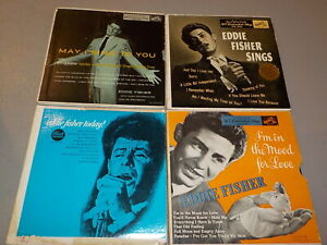 EDDIE FISHER May I Sing To You In The Mood Double Sets Lot of 4 Vinyl 45s RE6487 $8.99