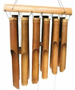 Cohasset Gifts 135 Cohasset Plain Antique Double Bamboo Wind Chime Natural Wo... $78.81