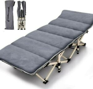 Folding Camping Cots for Adults Heavy Duty with Carry Bag Portable Sleeping Bed