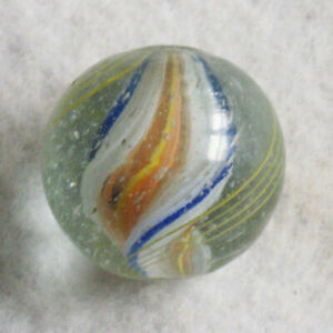 Antique Glass Marble German Handmade Single Ribbon Core 3 4quot; Shooter NrMINT