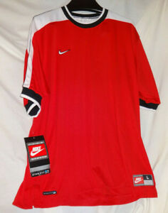 Vintage Nike Fit Made in USA Soccer Pullover Jersey Sz L BRAND NEW NWT $89.99