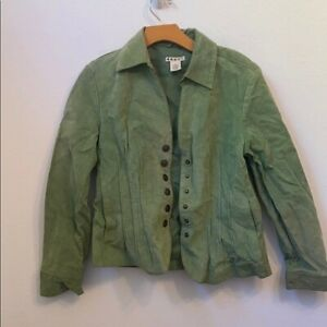 Vintage small green button up jacket