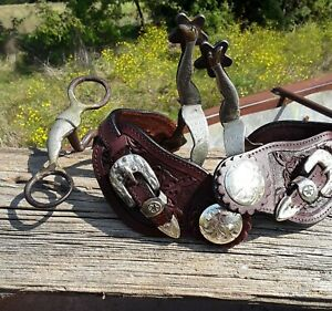 Gal Leg Pair of Spurs and Bit Bischoff