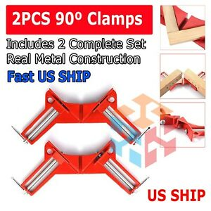 2X 90°Degree Right Angle Picture Frame Corner Clamp Holder Woodworking Hand Kit $8.95
