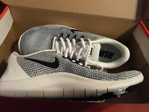 New Nike Womens Flex 2018 RN Run Running Shoes Sz 7.5 White Black AA7408 100 $48.00