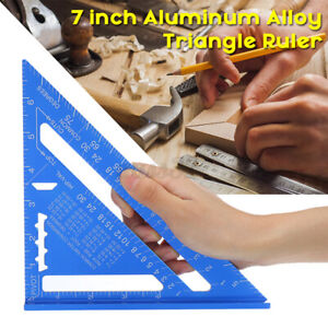 7#x27;#x27; Metric 90°Right Angle Triangle Ruler Speed Square Woodworking Measuring $17.29