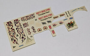 VINTAGE DECAL SHEET AMT 40 Willys and 32 Ford Sedan Double Kit Car Dragster C $19.99