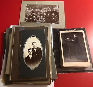 1890's Cabinet Photograph Teen Boys Babies amp; Wedding Vintage