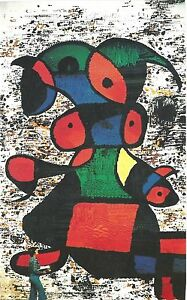 Joan Miro1977 Tapestry Offset Lithograph1989 Unsigned $27.00