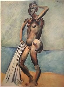 Pablo PicassoBather 1906 vintage Offset Lithograph 1946Plate signed $27.00