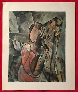Pablo PicassoGirl with a guitar1907vintage Offset Lithograph 1946Plate signed $27.00