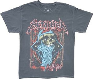 Men#x27;s Metallica 1988 One Vampire Skull Throwback Grey Vintage Retro T Shirt Tee $16.00