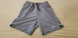 Mens Nike Shorts S Small Gray Athletic Gym Workout $15.99