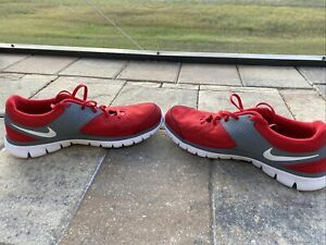 Nike Flex RN 2012 512019 600 Red Gray Men's size 10 Nike Running Shoes $42.00