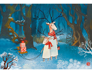 DAVICI Wooden whimsy jigsaw puzzle. Winter and Sledges 60 pcs. $39.90