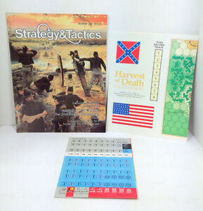 Strategy amp; Tactics Magazine #129 UNPUNCHED Game Map Harvest of Death Gettysburg $19.99
