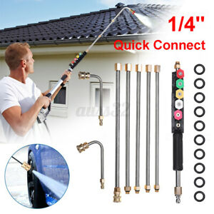 4000 PSI High Pressure Washer Gutter Cleaner Attachment Wand Lance Quick Connect $37.04