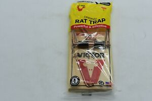 VICTOR Wood RAT TRAP Full size RAT trap 7in Long Brand New SEALED WOW NICE
