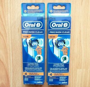8 Braun Oral B Precision Clean Toothbrush Replacement Brush Heads Refill EB20 4 $12.98