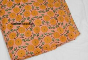 Indian Dressmaking Hand Block Print Cambric Craft Sewing Cotton Fabric By 1 Yard $7.99