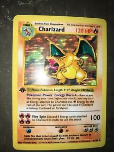 Charizard Pokemon Card Decal Sticker Shadowless 4 102 1st Edition $5.00