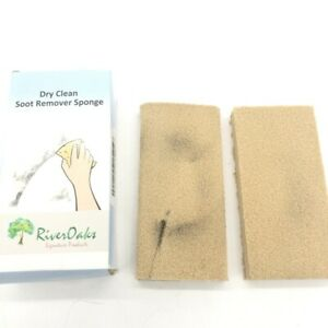 2 Pack Dry Cleaning Soot Eraser Sponge Dirt Dust Smoke Remover Natural Rubber
