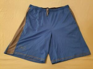 Mens Under Armour Shorts XL Blue Athletic Gym Workout $14.96