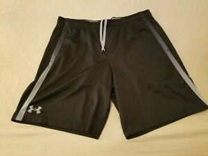 Mens Under Armour Shorts XL Black Athletic Gym Workout $22.92