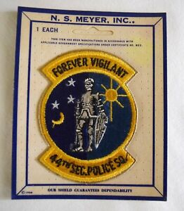 Vintage Original Rare USAF 44th Security Police Squadron Patch N.S. Meyer $19.95