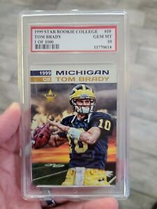 1999 2000 NFL ROOKIE TOM BRADY RC PSG MINT 10 $50.00