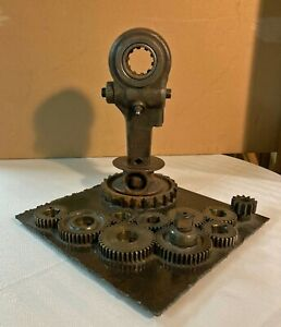 RECYCLED SCRAP METAL ABSTRACT HANDMADE TABLE ART SCULPTURE $59.99
