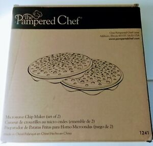 Pampered Chef Black Silicone Microwave Potato Chip Maker #1241 New in Box $9.00