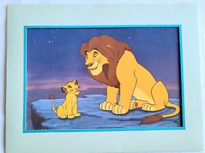 The Lion King Special Lithograph Disney Interactive 1995 Simba And Mufasa $19.50