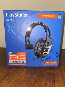 PS4 Gaming Headset Plantronics Rig 100HS for PlayStation4 $18.50