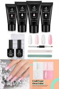 Beetles Poly Extension Gel KitNail Salon All in One French Kit Easy DIY at Home $25.99