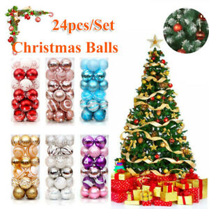 Christmas Ball Ornaments Xmas Tree Ball Bauble Hanging Home Party Ornament Decor $7.49