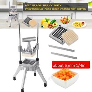 1 4 In Potato French Fry Fruit Vegetable Cutter Slicer Commercial Quality Blade $67.99